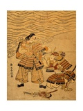 Kumagai Naozane and Taira No Atsumori, Episode from War Between Taira and Minamoto, 1767-1768 Giclee Print by Suzuki Harunobu