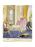 Scene in Style of Louis XV, Theatrical Setting, Watercolor, 1922 Giclee Print by Umberto Brunelleschi