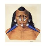 Head of the Warlike Tribe of Maxuruna Giclee Print