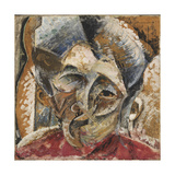 Dynamism of a Woman's Head or Head of a Woman Giclee Print by Umberto Boccioni