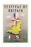 Poster Advertising the Festival of Britain Giclee Print