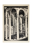 Water Feature Surrounded by Columns Giclee Print by Paul Thomas