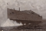 Launch of the Cunard Liner RMS Aquitania, Clydebank, Scotland, 21 April 1913 Photographic Print