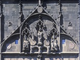 Decoration of the Façade of the Old Town Bridge Tower of Charles Bridge, Prague, Czech Republic Photographic Print