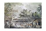 Human Sacrifice on Tahiti Island Giclee Print