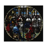 St Francis Presenting His Rule to Pope, Rose Window of Church of St Francis Giclee Print