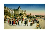Postcard Depicting the Promenade Des Anglais and the Hotel Ruhl, Nice, C.1930 Giclee Print