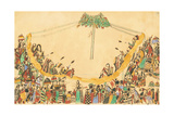 The Warriors Making their Grand Entry to the Medicine Lodge before Beginning the Dance, 1874-75 Giclee Print