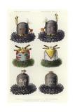 Mask of God Accompanying He'Mishikwe and Masks of Goddesses Accompanying He'Mishikwe Giclee Print