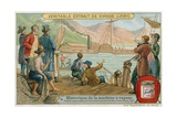 Robert Fulton's First Paddle Steamer for the Service Between New York and Albany, 1807 Giclee Print