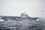 The Doolittle Raid on Tokyo 18th April 1942: One of 16 B-25 Bombers Leaves the Deck of USS Hornet Photographic Print