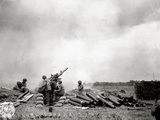 A Battery of 90Mm M1 Heavy Anti-Aircraft Guns in Action, Omaha Beach, Normandy, France, June 1944 Photographic Print