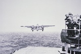 The Doolittle Raid on Tokyo 18th April 1942: One of 16 B-25 Bombers Leaves the Deck of USS Hornet Photographic Print by  American Photographer
