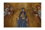 Enthroned Madonna and Child with the Archangels Michael and Gabriel and Apostles Giclee Print