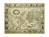 Nova Orbis Geographica Ac Totius Terrarum Hydrographica, Willem Janszoon Blaeu Giclee Print