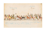 Returning from a Raid to Old Mexico across the Staked Plains with a Herd of Stock Captured, 1874-75 Giclee Print