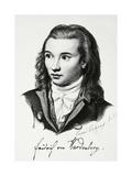 Portrait of Novalis, Pseudonym of Georg Friedrich Philipp Freiherr Von Hardenberg Giclee Print