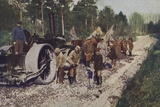 German Troops Building a Road in Captured Enemy Territory, World War I, 1914-1916 Photographic Print
