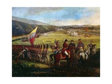 Battle at Calibio Hacienda, January 5, 1814, Painting by Jose Maria Espinosa Gicléetryck