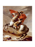 Bonaparte Crossing the St Bernard Pass, May 1800, 1801 Painting by Jacques-Louis David Giclee Print