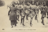 Indian Soldiers Parading in Paris on Bastille Day, World War I, 14 July 1916 Photographic Print