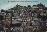 Mount Adams, Shiwing the Incline and the Famous Rockwood Pottery, Cincinnati, Ohio, Usa Photographic Print
