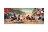A Roman Chariot Race, Illustration from 'Hutchinson's History of the Nations' Digitálně vytištěná reprodukce