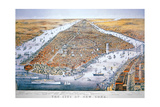 The City of New York, Printed by Parsons and Atwater, Published by Currier and Ives, 1876 Giclee Print