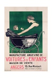 Poster Advertising Voitures D'Enfants, Printed by Gustave Radigois, Nantes, C.1930 Giclee Print