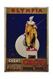Poster Advertising 'Olympia, Great International Circus and Christmas Fair' Giclee Print