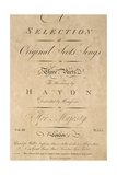 Title Page of Score for Scottish Folk Songs Set to Music by Franz Joseph Haydn Giclee Print
