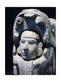 Head of a Man Coming Out of the Mouth of a Jaguar, Artifact Originating from Chichen Itza, Yucatan Giclee Print