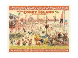 The Barnum and Bailey Greatest Show on Earth - the Great Coney Island Water Carnival, C.1898 Giclée-vedos