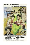 Poster Advertising the Fight Between Muhammad Ali and George Foreman in Kinshasa, Zaire, 1974 Giclee Print