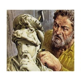 Michelangelo Worked on a Chapel Which Was to Contain the Tombs of the De Medici Family Giclee Print