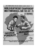 Poster Advertising the Fight Between Muhammad Ali and George Foreman in Kinshasa, Zaire, 1974 Giclée-tryk