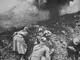 French Infantry under Fire from German Artillery During the Battle of Verdun, 1916 Photographic Print