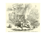 Hindoo Mode of Burning the Dead on the Banks of a River, Jeremiah Giclee Print