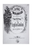 Title Page of Sheet Music for Beautiful Miller-Woman, Variation by Angelica Catalani Giclee Print