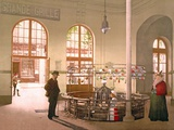 Vichy Spring Water Being Sold by the Glass at the Grande Grille Source, 1890-1900 Photographic Print