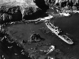 A Japanese Ship Aground in Kiska Harbour, Aleutian Islands, Alaska, USA, 18th September 1943 Photographic Print