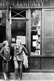 Sylvia Beach and Ernest Hemingway in Front of Shakespeare and Company Bookshop, C.1928 Photographic Print