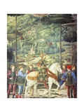 Procession with Giuliano De' Medici, Detail from the Procession of the Magi by Benozzo Gozzoli Giclee Print
