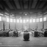 Reading Room in Library, University of Michigan, Ann Arbor, Michigan, C.1901 Photographic Print