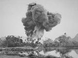 French Aircraft Drops Napalm on Phu Nho Quan, During the French War in Vietnam, 1954 Photographic Print