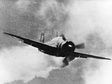 Japanese Kamikaze Plane Damaged by Gunfire Attempts to Crash on USS Wasp, 1940S Photographic Print