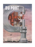 Engineering Research, Front Cover of the 'Dupont Magazine', August-September 1953 Giclee Print