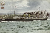 Ss Cambria, Holyhead and Dublin Service, Quickest Route London, Birmingham, Manchester and Dublin Photographic Print