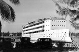The USS Amphitrite as a Floating Hotel, Anchored in the Bay at Ft. Lauderdale Beach, C.1935 Photographic Print