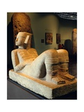 Chac-Mool Statue Originating from the Temple of the Planet Venus, Chichen Itza Giclee Print